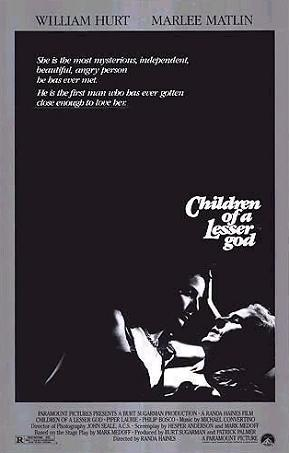 an overview of the movie children of a lesser god by randa haines More movie shopping  and that's what children of a lesser god does  silly  songs, first-time director randa haines finds a way to lighten the movie's tone,.